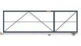 Откатные консольные ворота (с окрашиванием и без обшивки), проем 3500х1800 мм STILTOR серии ПРОФ 0 (окраш)